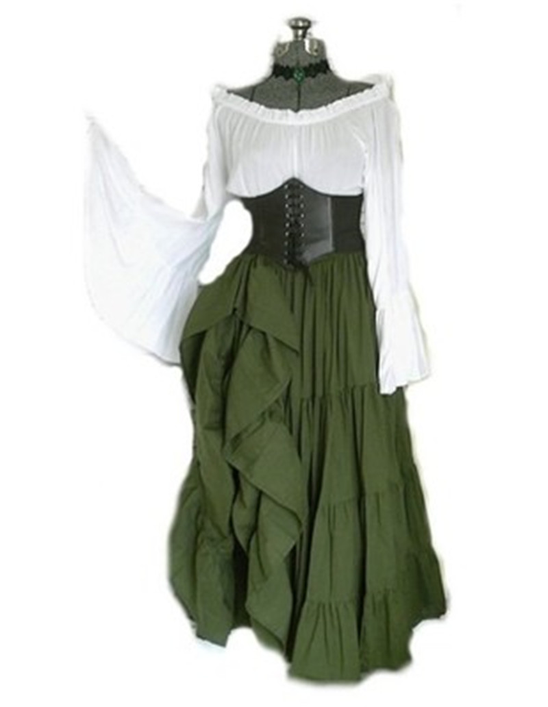 Renaissance Women Costume Medieval Maiden Fancy Cosplay Over Dress Halloween Costumes For Women Victorian Dress Costume 5xl 4xl