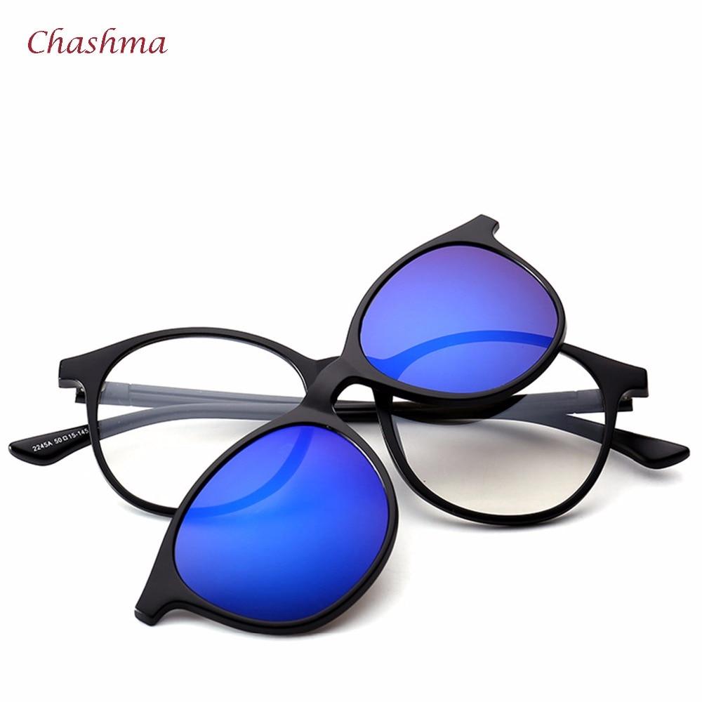 Chashma Marke 5 Clips Sonnenbrille Männliche Runde Brille Rahmen ...
