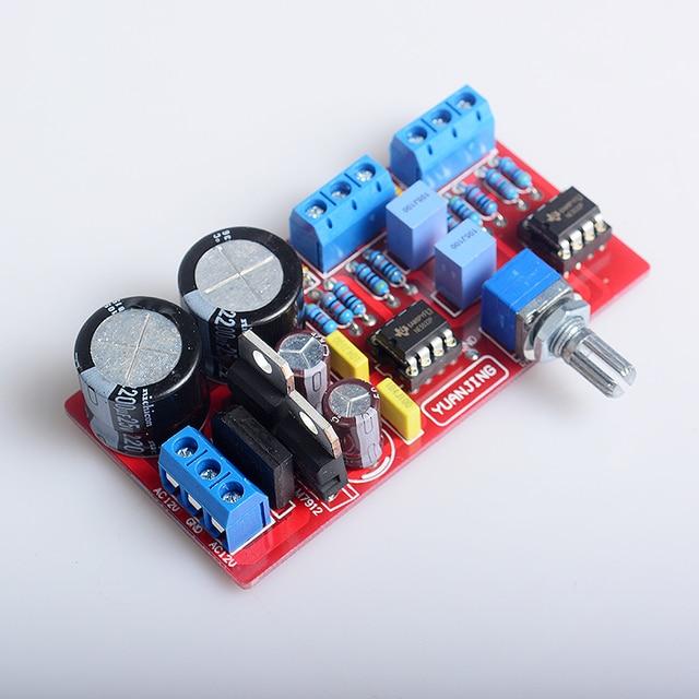 YJ NE5532 * 2 preamplifier board dual 12V-0-12V volume controller Amplifier preamp mixer board for amplifier board
