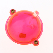 5pcs/set Fishing Float ABS Plastic Balls Clear Airlock Strike Indicators Red Tackle Accessories