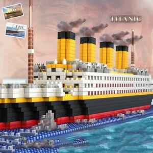 Image 2 - 1860 adet Titanic gemisi modeli elmas yapı DIY blok seti çocuk oyuncakları hediye