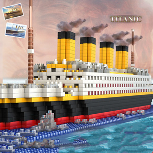 Image 2 - 1860pcs Titanic Cruise Ship model Diamond Building  DIY  Blocks Kit  kids toys gift