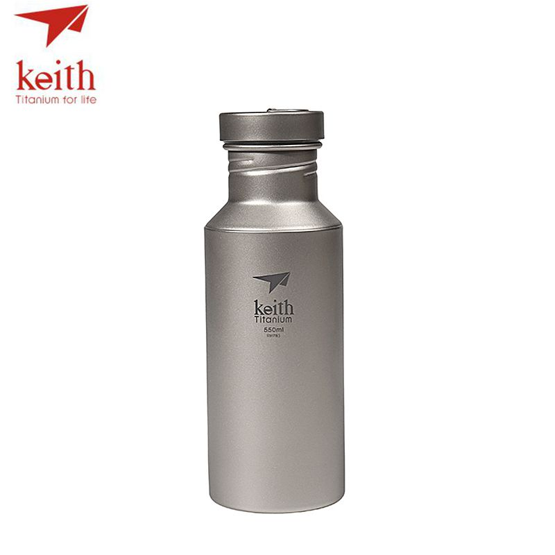 Keith Outdoor Titanium Water Kettles With Titanium Lids Drinkware Camping Ultralight Travel Water Bottles 400ml 550ml 700ml keith pure titanium double wall water mugs with folding handles drinkware outdoor camping cups ultralight travel mug 450ml 600ml