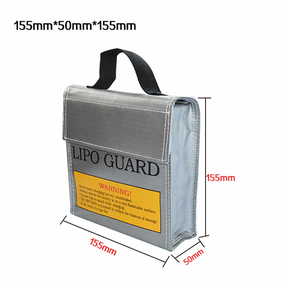 Compapetion 155*50*155MM LiPo Li-Po Battery Fireproof Safety Guard Safe Bag Remote Control Toys