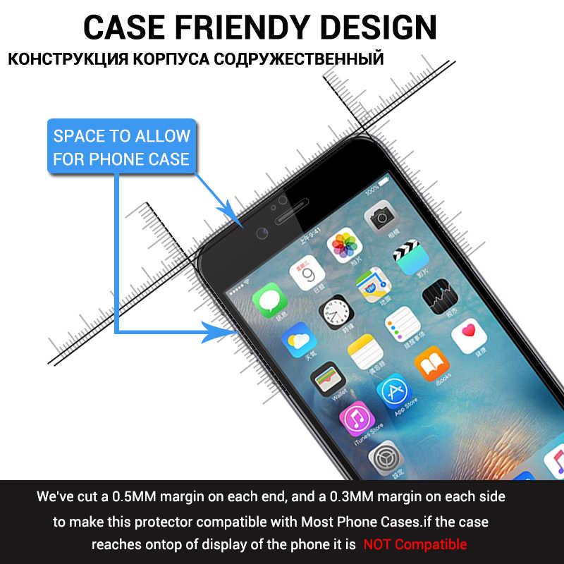 Pełne kleju hartowanego szkła dla iphone 7 8 XS MAX XR X 6 6S Plus 10 z powłoką Nano Anti -Scratch folia ochronna na ekran xs max