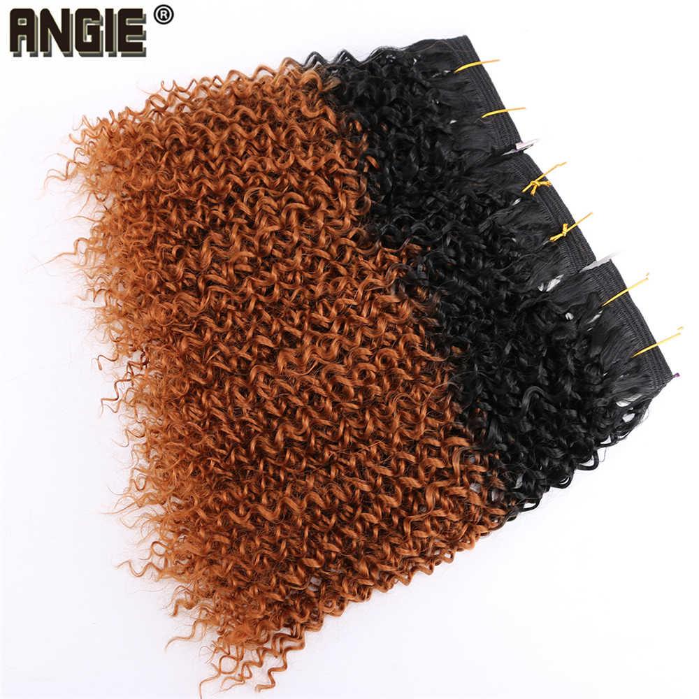 100 г 8-20 дюймов афро кудрявый вьющиеся волосы пучки 1 шт./упак. Джерри вьющиеся синтетических волос, плетение