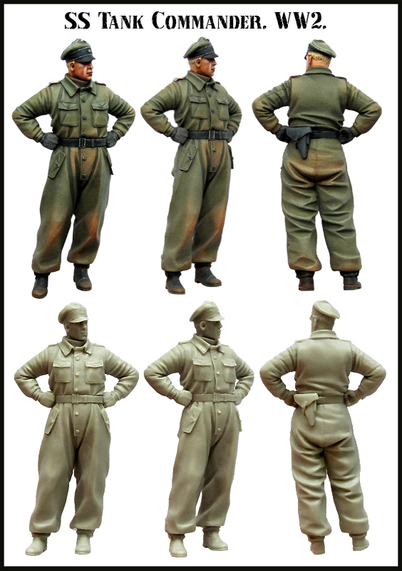 1:35 WWII German Tank Officer