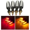 4pcs Universal Motorcycles LED Turn Signal Indicator Brake Running Lights Blinkers