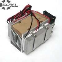 Free Shipping DIY TEC Peltier Semiconductor Refrigerator Water Cooling Air Condition Movement For Refrigeration And Fan