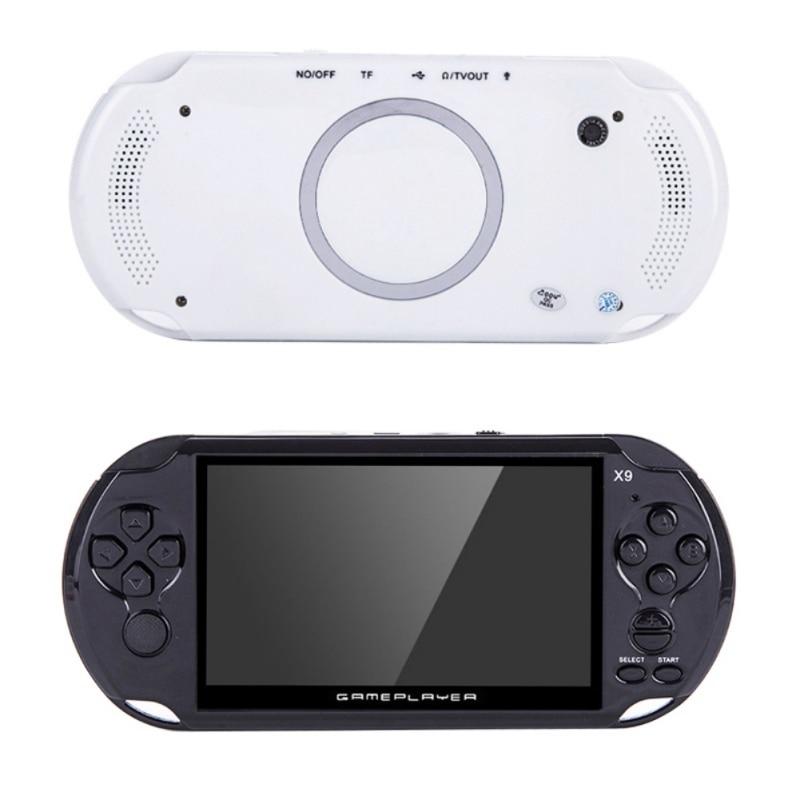 Bon cadeau pour les enfants X9-Rechargeable-5-0-inch-8G-Handheld-Retro-Game-Console-Video-MP3-Player-Camera