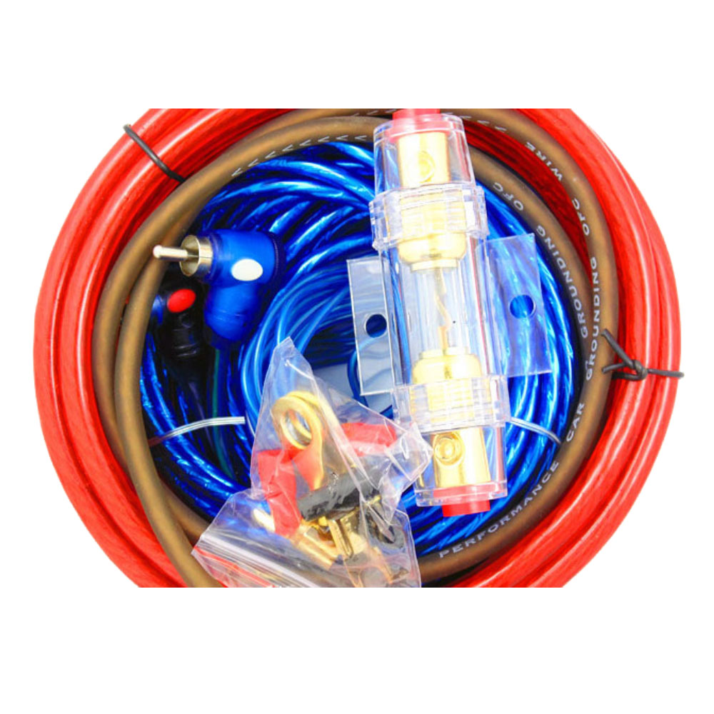 Amplifier Subwoofer Speaker Installation Kit Car Audio Wire Wiring 8ga Power Cable 60 Amp Fuse Holder 1500w In Line From Automobiles Motorcycles