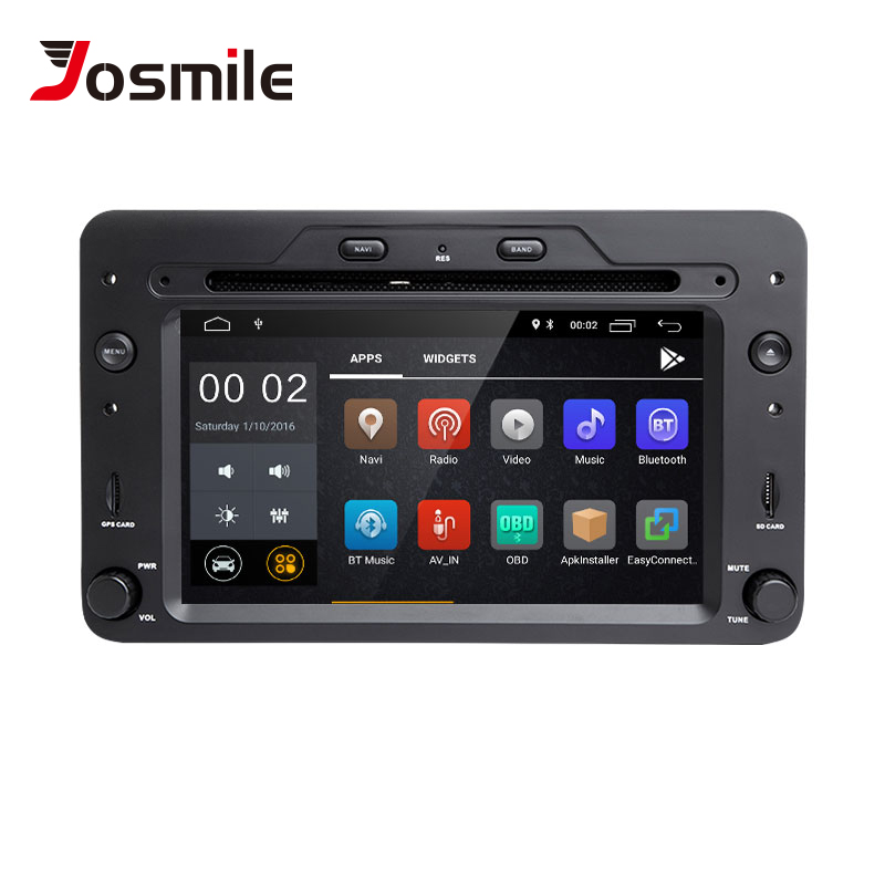 2 din Android 8.1 GPS Navigation Radio For Alfa Romeo 159 Brera Spider Sportwagon Car DVD Multimeida Player Head Unit Wifi Audio