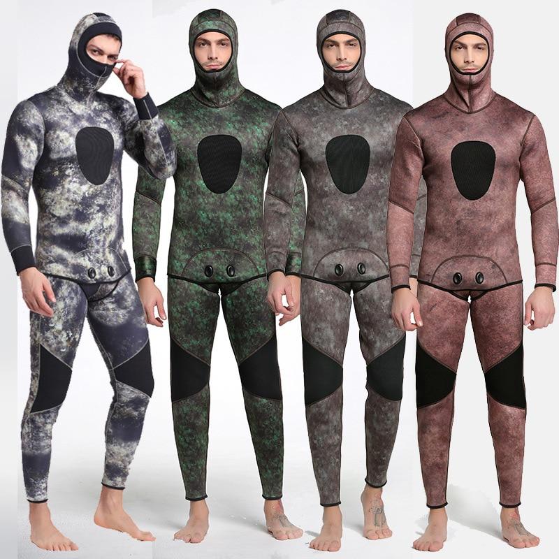 2018 Camouflage Men Wetsuit Spearfishing 3mm Neoprene Keep Warm Swimsuit Dive Surf Swim Wet Suit Swimwear Long sleeve Beach Wear men women spearfishing wetsuit 3mm neoprene one piece swimsuit dive surf snorkel swim wet suit swimwear long sleeve beach wear