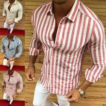 Mens Stylish Slim Fit Business Shirt Long Sleeve Dress Shirts
