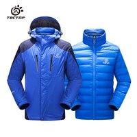 TECTOP из двух частей детский комплект съемной пуховой подстежкой мальчики и девочки ветрозащитный, непромокаемые и snowproof зимняя теплая куртк