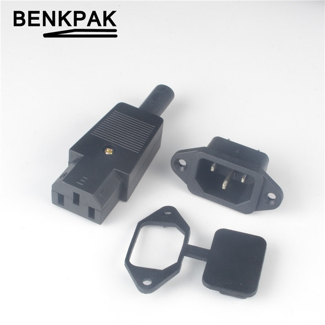 power plug +AC socket+waterproof cover