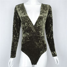 Sexy Women V Neck Velvet Bodycon Shirt Vintage Velvet Long Sleeves Blouse Party Clubwear Hot New