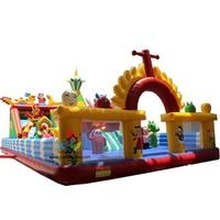 Дешевый надувной веселый город в наличии, забавная надувная детская площадка, надувной батут для продаж