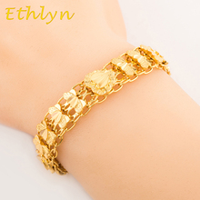 Ethlyn Dubai/Ethiopian/African women gift  jewelry romantic Heart  bracelet jewelry Gold Color  Wholesale  B014
