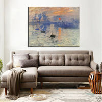 HD printing oil painting Modern abstract home decoration RISING SUN Unframed