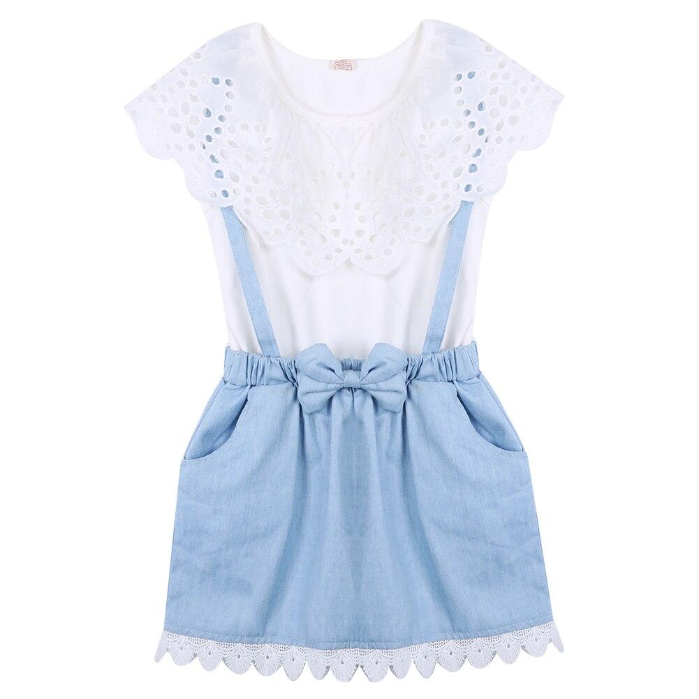 Одежда для маленьких девочек без рукавов Кружевное платье принцессы Дети Обувь Для Девочек Деним цветок платье-пачка летняя одежда
