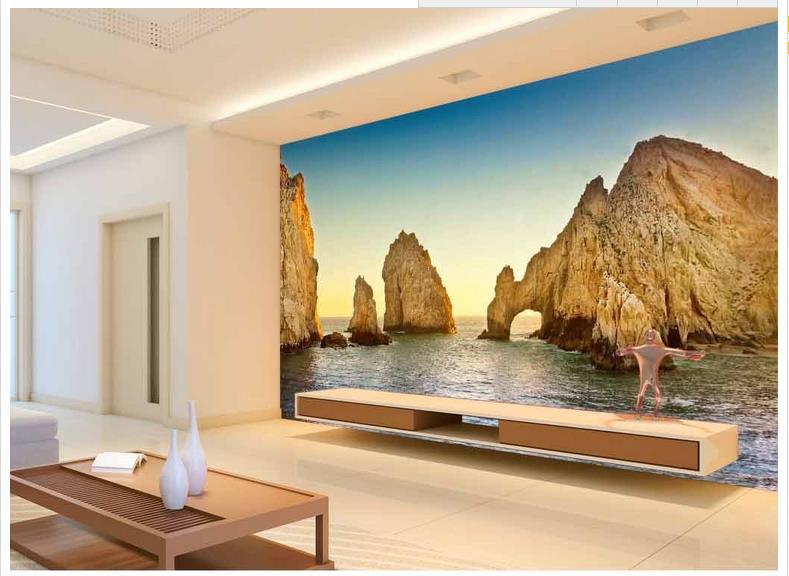 custom d papel tapiz para paredes d pared papel tapiz mural paisaje mar de piedra