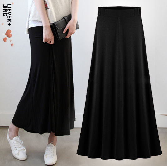 Popular Long Black Cotton Skirt-Buy Cheap Long Black Cotton Skirt ...