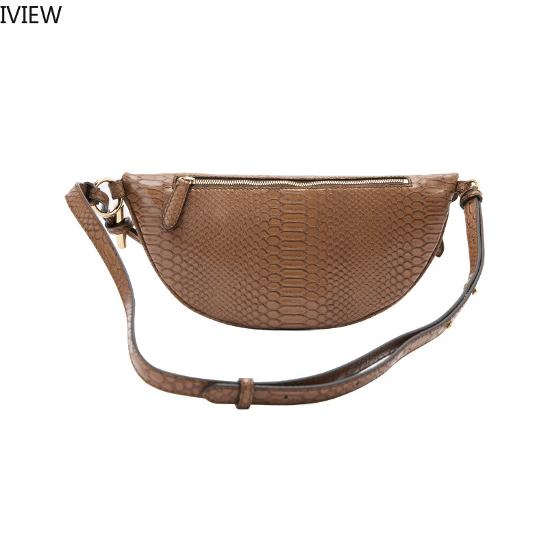 2019 Summer Women Waist Packs Messenger Chain Tassel Chest Bag Snake Leather Style Fanny Pack For Women  Luxury Fanny Pack