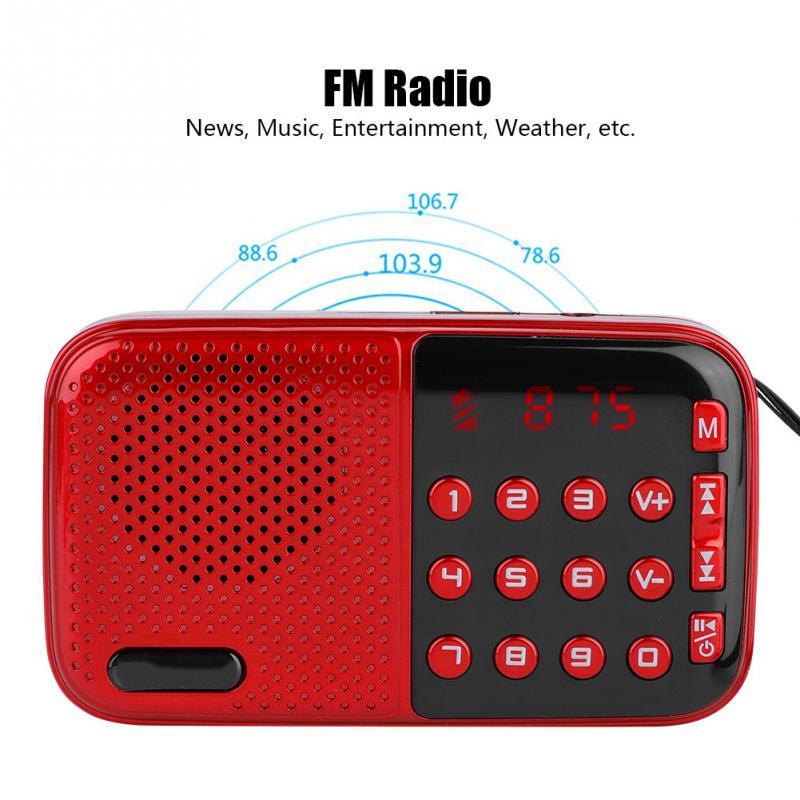 Stunde Standby Pw Cut Speicher Stereo Unterhaltungselektronik Tragbare Digitale Radio Fm Stereo Fm Radio U Disk/tf Musik Mini Usb Fm Radio Lautsprecher Mit 24 Tragbares Audio & Video