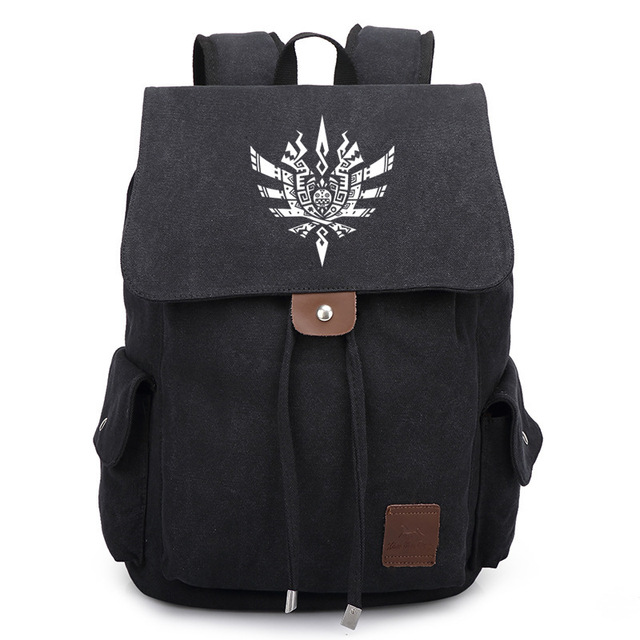 Japan Anime Monster Hunter Bag Backpack Rucksack Travel Canvas Book School Men Women Boy Girls