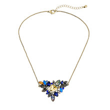 Exquisite Rhinestone Pendant Necklaces for Women Wholesale 2019 Newest Fashion Thin Chain Collar Necklace Jewelry(China)