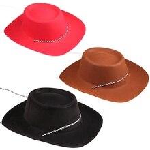 Модная Ковбойская Повседневная ковбойская шляпа из искусственной кожи в западном стиле с защитой от солнца