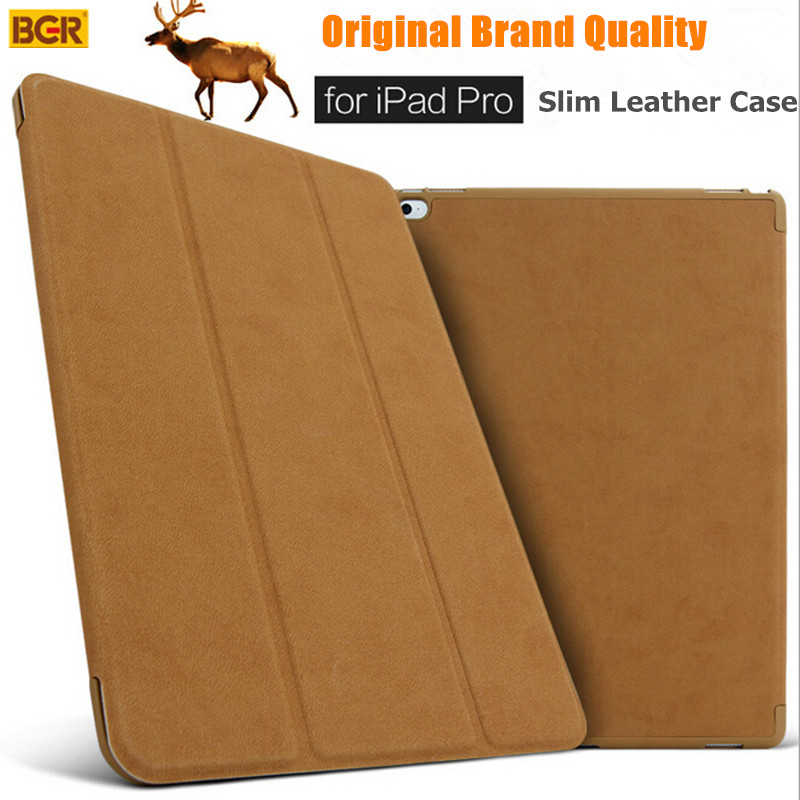 For iPad Pro 12.9 Smart Case 100% Original Brand Ultra-slim Intelligent Flip PU Leather Case For iPad Pro With Sleep/Wake up New ...