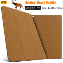 For iPad Pro 12.9 Smart Case 100% Original Brand Ultra-slim Intelligent Flip PU Leather Case For iPad Pro With Sleep/Wake up New