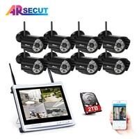 ARSECUT Plug And Play 8CH CCTV Surveillance Kit 960P Wireless NVR Kit Indoor Outdoor IP Camera