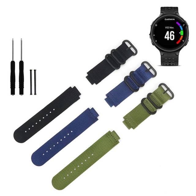 US $4 49 25% OFF|Canvas Nylon Strap for Garmin forerunner  735XT/220/230/235/620/630 Watch Band Nylon Strap for Garmin forerunner  Watchband betls-in