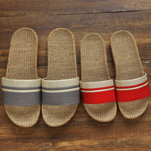 Linen Slippers Home Lovers Indoor Slippers Wooden Floor Cotton and Linen House Slip Summer Slippers  Women Shoes цена 2017
