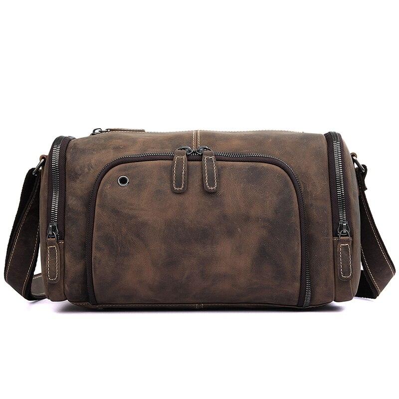 Август Пояса из натуральной кожи Уникальные Дизайн Для мужчин сумки Сумка коричневый Цвет дорожная сумка для Бизнес Для мужчин сумка 1020r