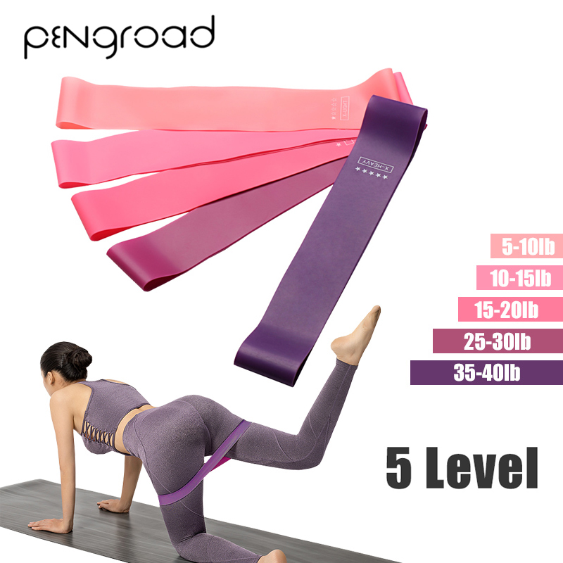 Resistance Bands  5 Set Exercise Rubber Gym Yoga Elastic Band Fitness Training