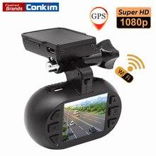 Conkim Видеорегистраторы для автомобилей Камера мини 0903 nanoq не NT96655 1080 P HD GPS Wi-Fi Car регистраторы конденсатор 7 г Ночное видение + CPL/БД/жесткий комплект дополнительно