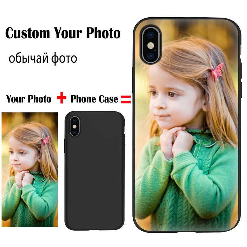 JURCHEN caso personalizado para Xiaomi rojo mi 7A S2 K20 mi 9 SE 9T CC9E Nota 8 7 6 5A Pro Poco F1 funda de teléfono Custo mi zed nombre foto Logo