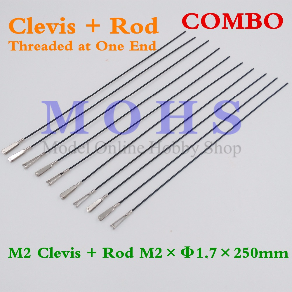 Online Shop 10/20sets clevis + rod COMBO M2 clevis threaded at one ...