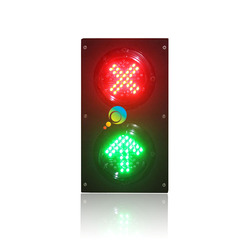 New design hot selling customized 100mm red cross green arrow LED traffic signal light