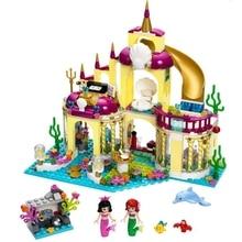 SY374 400Pcs Mermaid Princess Undersea Palace Model Minifigure Building Blocks Bricks Kits girls friends toys for kids christmas