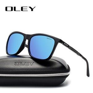 Мужские и женские поляризационные очки OLEY, легкие Квадратные Солнцезащитные очки из алюминиево-магниевого сплава, летние очки YA436