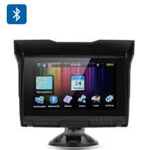5.0 Inch 256MB RAM 8GB Waterproof Motorcycle Bluetooth GPS Navigation+Free Updated Maps for Most Country 2016 Version