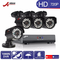 ANRAN 8CH HD 1080N AHD DVR Kit 4pcs 720P 1800TV Camera 24 IR Day Night Outdoor
