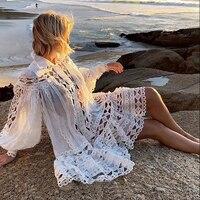 Ручной работы выдалбливают Бисероплетение плиссированные мини платье 2019 Весна Высокое качество белый/черный кружево вышивка платье Подиу