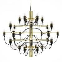 Modern Gold Chrome 18/30/50 Heads Gino Sarfatti Pendant Lamp For Living Room Dinning Room Decor Bulbs for free