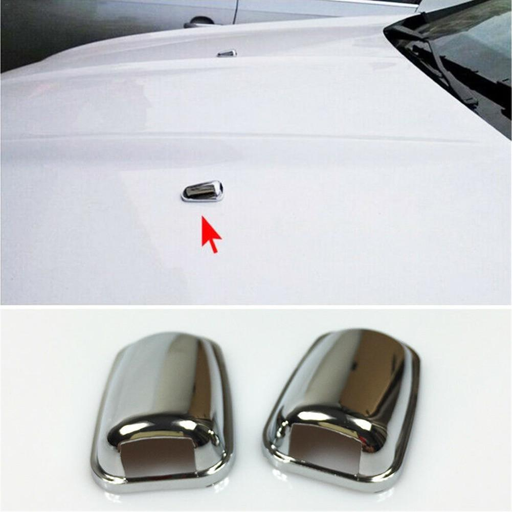 Unique 2PCS Protective Cap Sprinkler Head Water Spray Nozzle Wiper Water-jet Cover Trim For Ford Focus 2 3 4 MK2 MK3 MK4